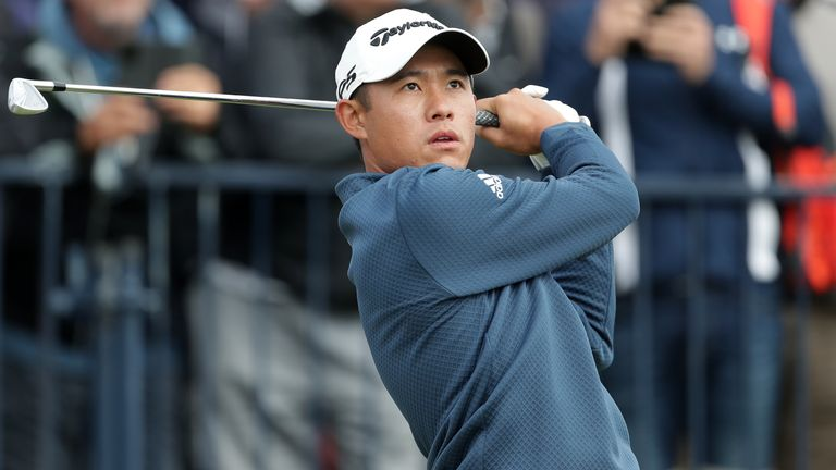 Final pairing Collin Morikawa and Louis Oosthuizen will tee off at 3.55pm