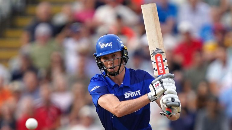 London Spirit's Zak Crawley will be in action for England in the Test series against India in a week's time