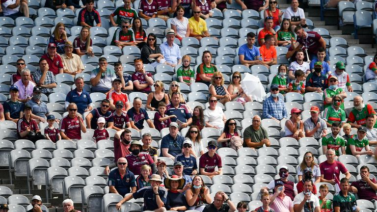 18,000 fans have been allowed into Croke Park in recent weeks