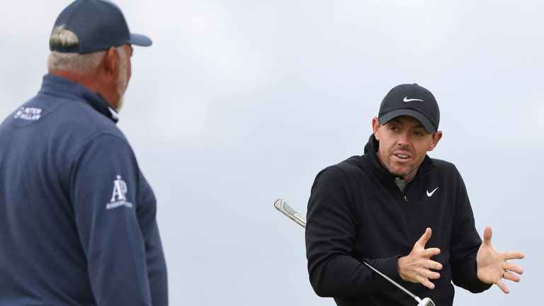 Clarke played a practice round with McIlroy on Wednesday