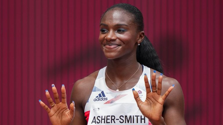 Dina Asher-Smith has qualified for the 100m semi-final and says she's got more to give