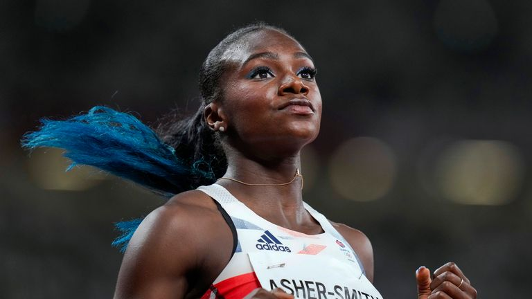 Dina Asher-Smith has revealed the nightmare lead into the Games she has had after a hamstring tear six weeks ago