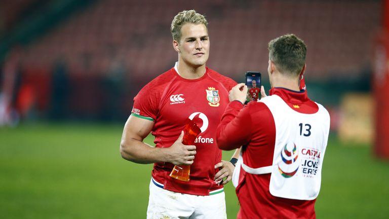 Man of the match Duhan van der Merwe