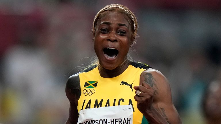 Elaine Thompson-Herah is the double Olympic champion in the 100m and 200m