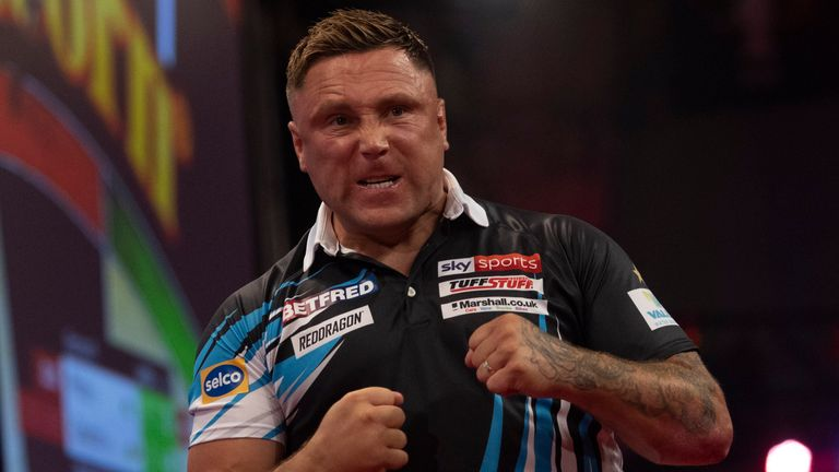 Gerwyn Price punished fellow Welshman Jonny Clayton in emphatic fashion at the World Matchplay to set up an encounter against defending champion Dimitri Van den Bergh