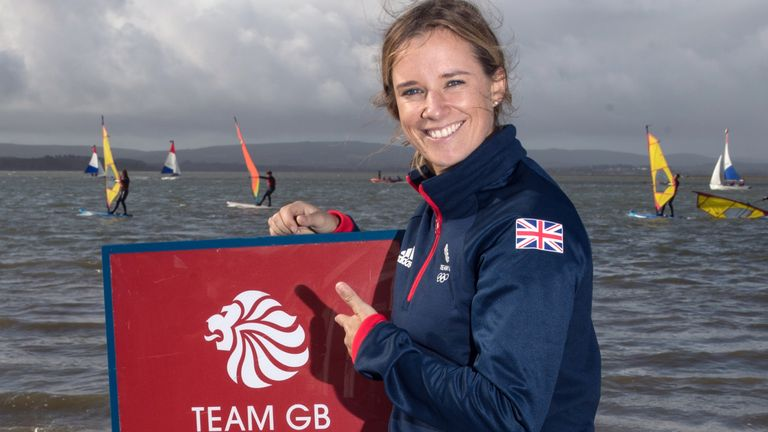 Hannah Mills will be defending her sailing title in the women's 470 class in Tokyo