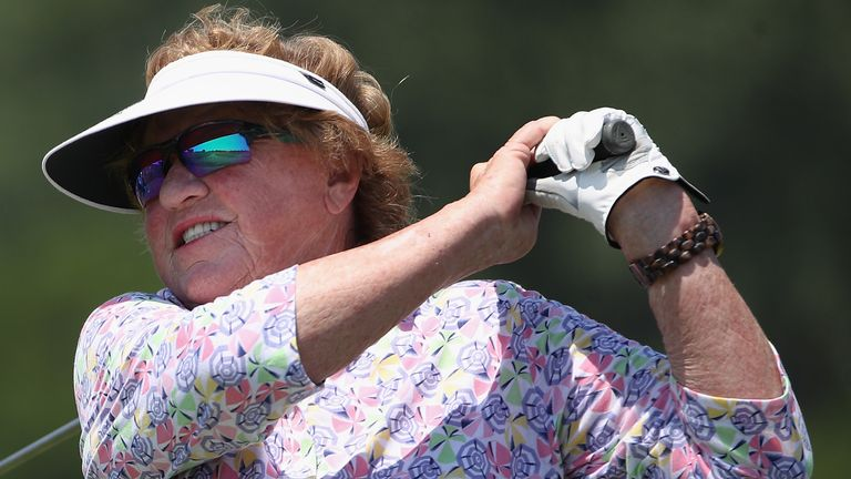 JoAnner Carner shot her age for the second time at the US Senior Women's Open