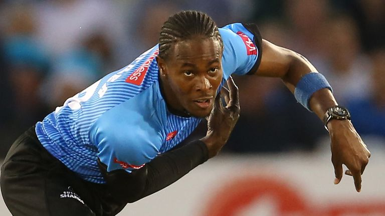 Jofra Archer made his return to action for Sussex in the Vitality Blast