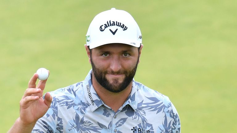 Jon Rahm missed a number of short putts in his third round