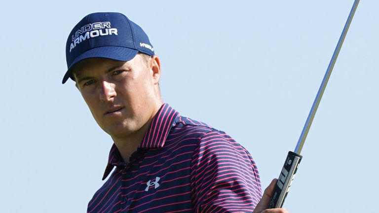 Jordan Spieth was tied for the lead until he bogeyed 17 and 18