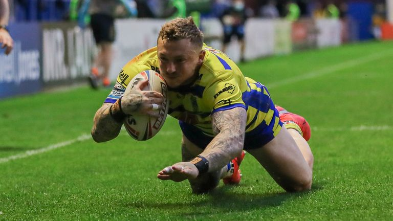 Josh Charnley grabbed two late tries for Warrington
