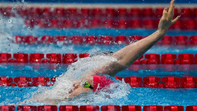 Luke Greenbank finished third behind the USA and the Russian Olympic Committee in the 200m backstroke final