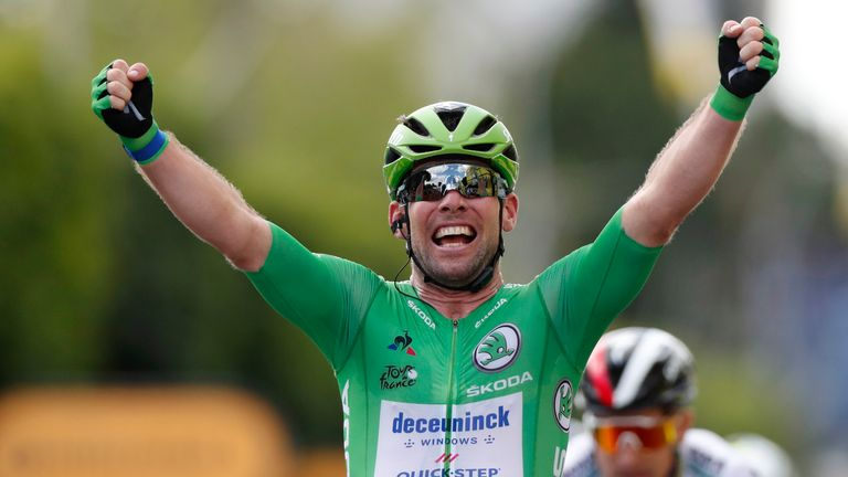 Mark Cavendish has won stage six of the Tour de France