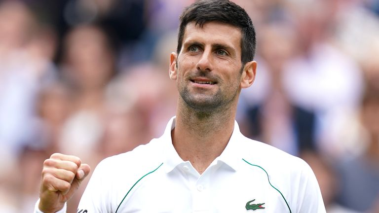 Novak Djokovic marched into his 10th Wimbledon semi-final after a straight-sets win over Marton Fucsovics on Centre Court