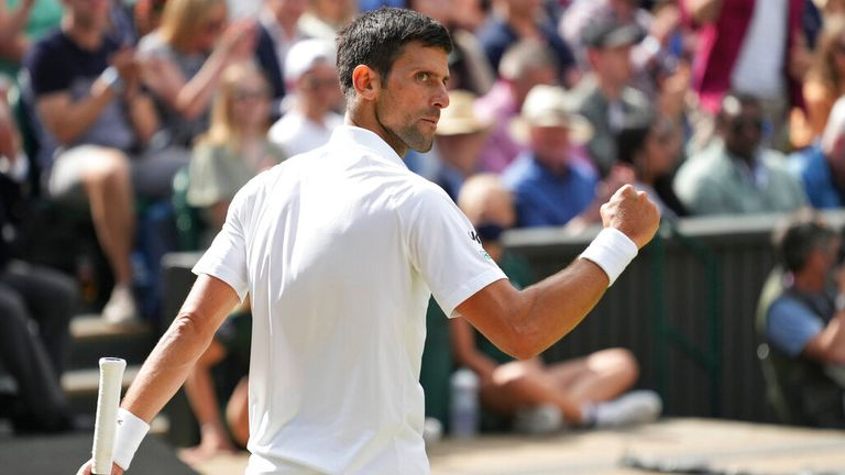 Djokovic used his full repertoire of grass-courts skills to see off Berrettini