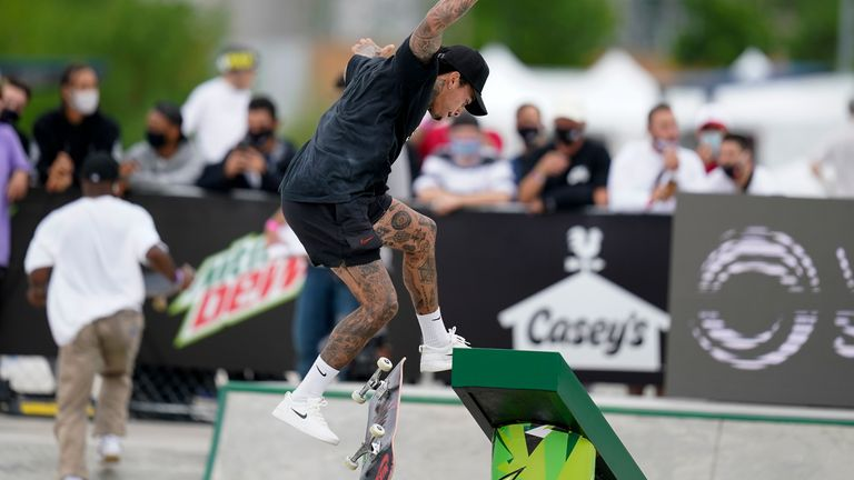 Nyjah Houston of the United States is one of the favourites to win the men's street event