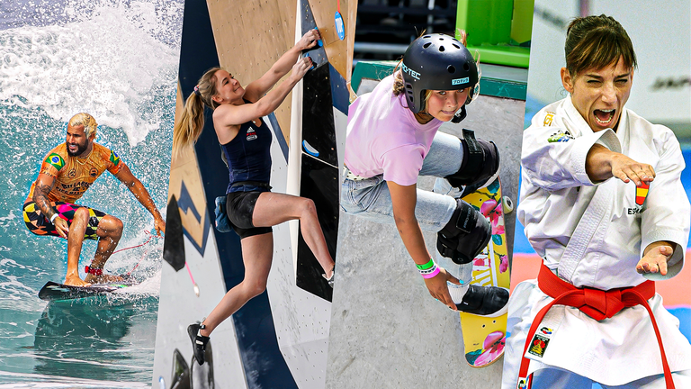 Surfing, sport climbing, skateboarding and karate are four brand new sports added to the Olympic programme for the Tokyo Games