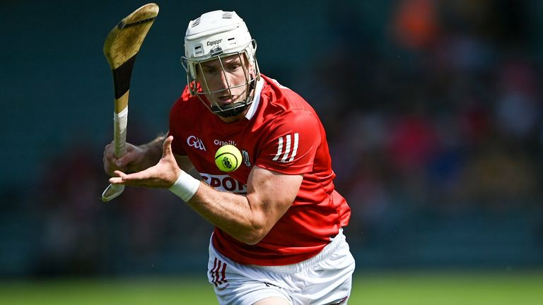 Patrick Horgan scores a remarkable point off his knees