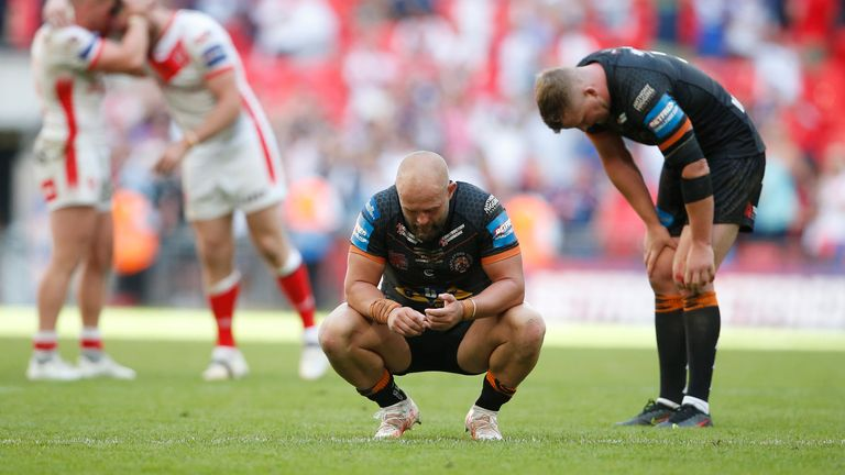 Castleford's players were left dejected at full-time