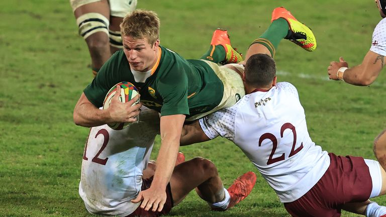 Pieter-Steph du Toit has made a remarkable recovery from his serious knee injury to perform brilliantly
