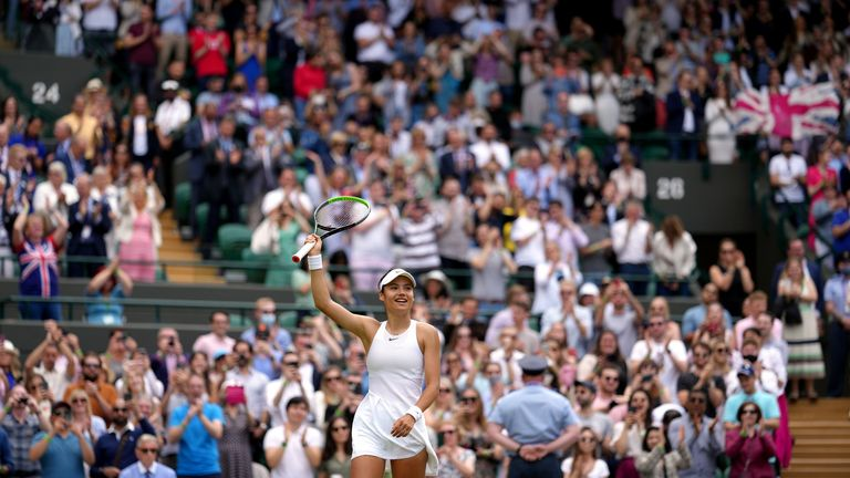 British teenager Emma Raducanu shocked Wimbledon by beating Sorana Cirstea on Court No 1