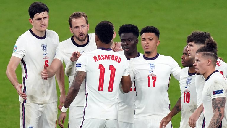 Gary Neville says he is saddened but not surprised by the online abuse aimed at Marcus Rashford, Jadon Sancho and Bukayo Saka