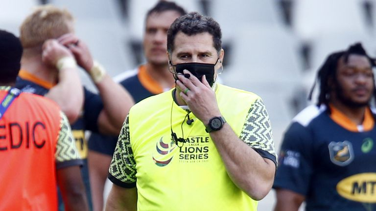 South Africa Director of Rugby Rassie Erasmus has posed as a water boy during the series and been very active on social media