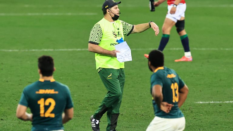 Erasmus says he will step back from his duties if his rant harms the Springboks