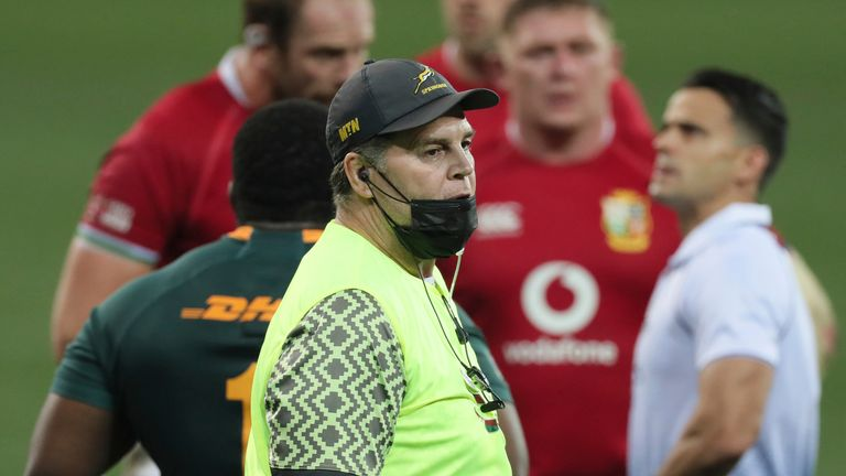 Erasmus publicly released an extraordinary 62-minute video criticising referee Nic Berry, put out several Tweets and acted as water carrier during the Tests