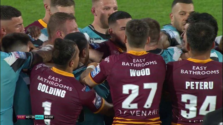 Huddersfield's game against Hull FC ended in controversy as Josh Jones and Andre Savelio both saw red after clashing in the closing stages.