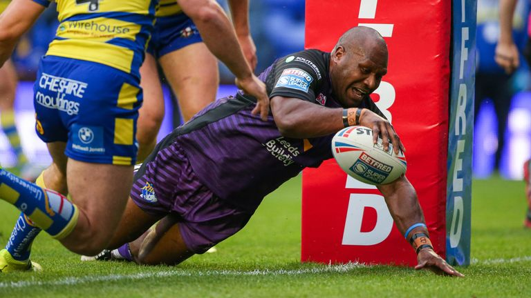 Rob Lui goes over for Leeds' opening try