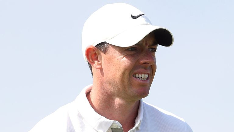 McIlroy birdied 14 and 18 to get back to level par
