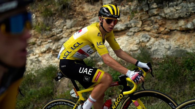 Tadej Pogacar retained his place at the head of the field, extending his lead in the yellow jersey