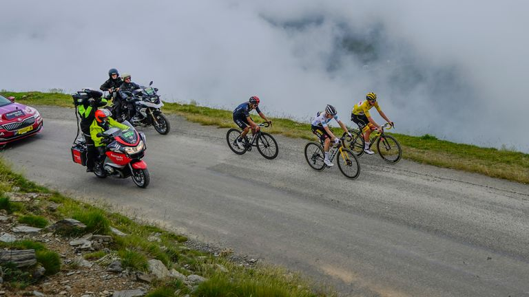 Pogacar holds a commanding lead after claiming his first stage while wearing the leader's yellow jersey (AP)