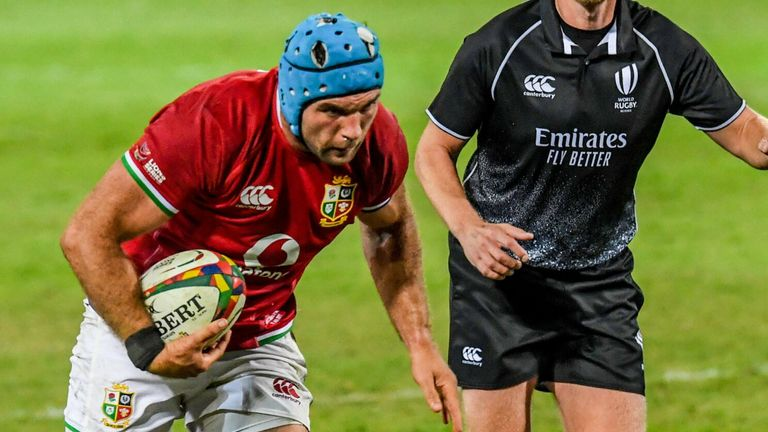 Tadhg Beirne again proved a standout in the six jersey for the Lions as they romped to a 71-31 win over the Sharks on Saturday