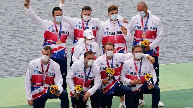 Team GB 's men's rowing eight crew were underdogs heading into the final