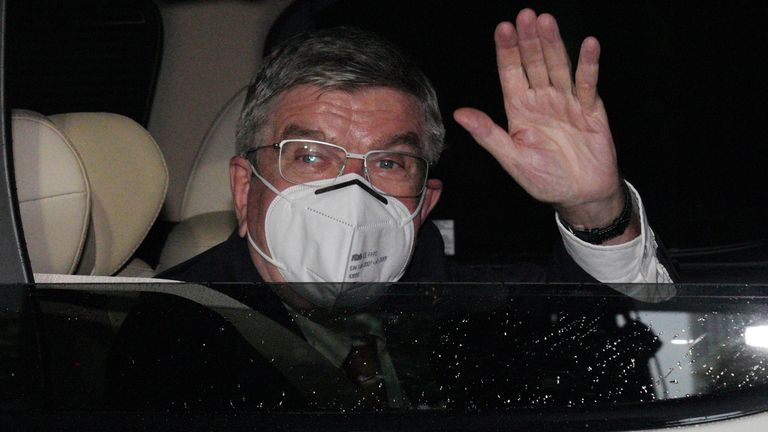 IOC President Thomas Bach says cancelling the Olympic Games was never a real option despite the global pandemic