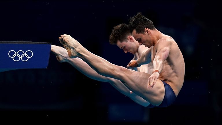 Tom Daley and Matty Lee produced the performance of a lifetime to claim Olympic gold at the Tokyo Aquatics Centre. (Pictures: BBC Sport)