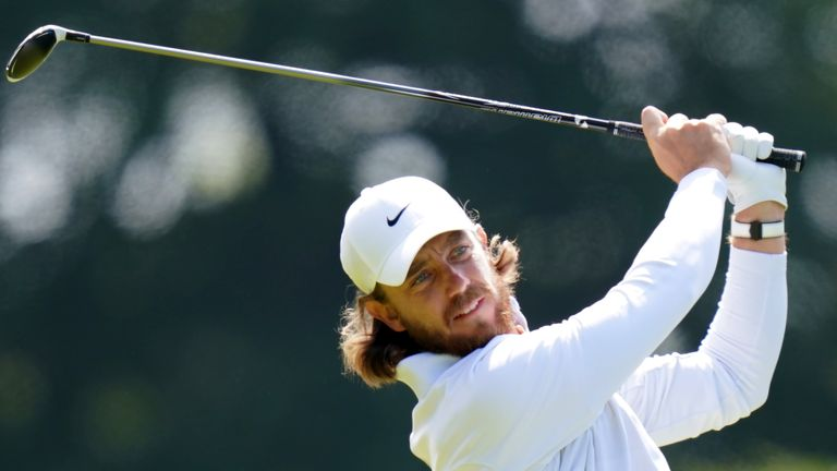 Tommy Fleetwood played alongside Lowry during the final round at Royal Portrush