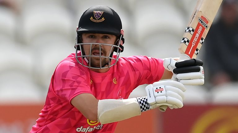 Travis Head in action for Sussex against Kent in the Royal London One-Day Cup