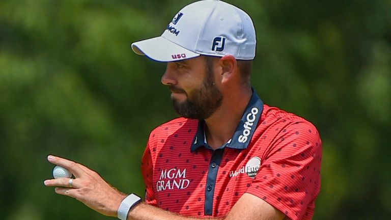 Troy Merritt scored a hole-in-one in the third round on Saturday