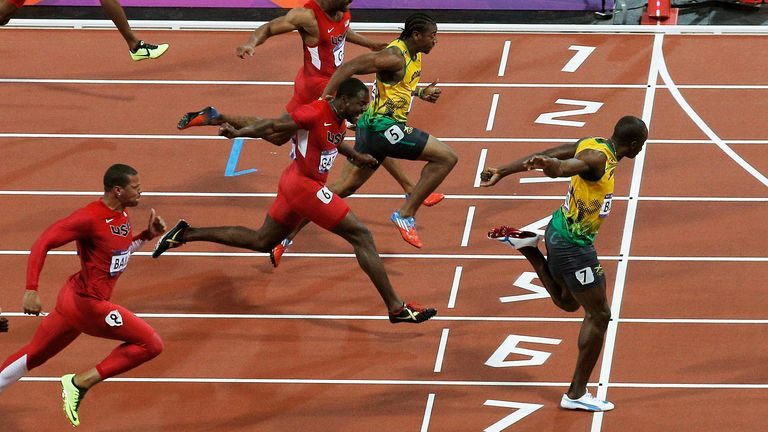 Usain Bolt won his second 100m Olympic title at the London 2012 Games
