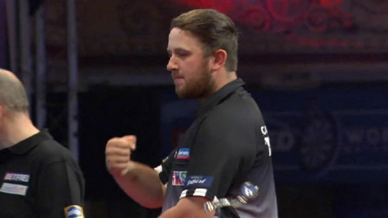 Callan Rydz celebrated a little too hard after winning a leg during his first round match at the World Matchplay and sent his watch flying in the process!