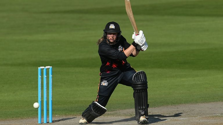 Kelly finished unbeaten on 100 from just 53 balls to inflict a first defeat on the Southern Vipers