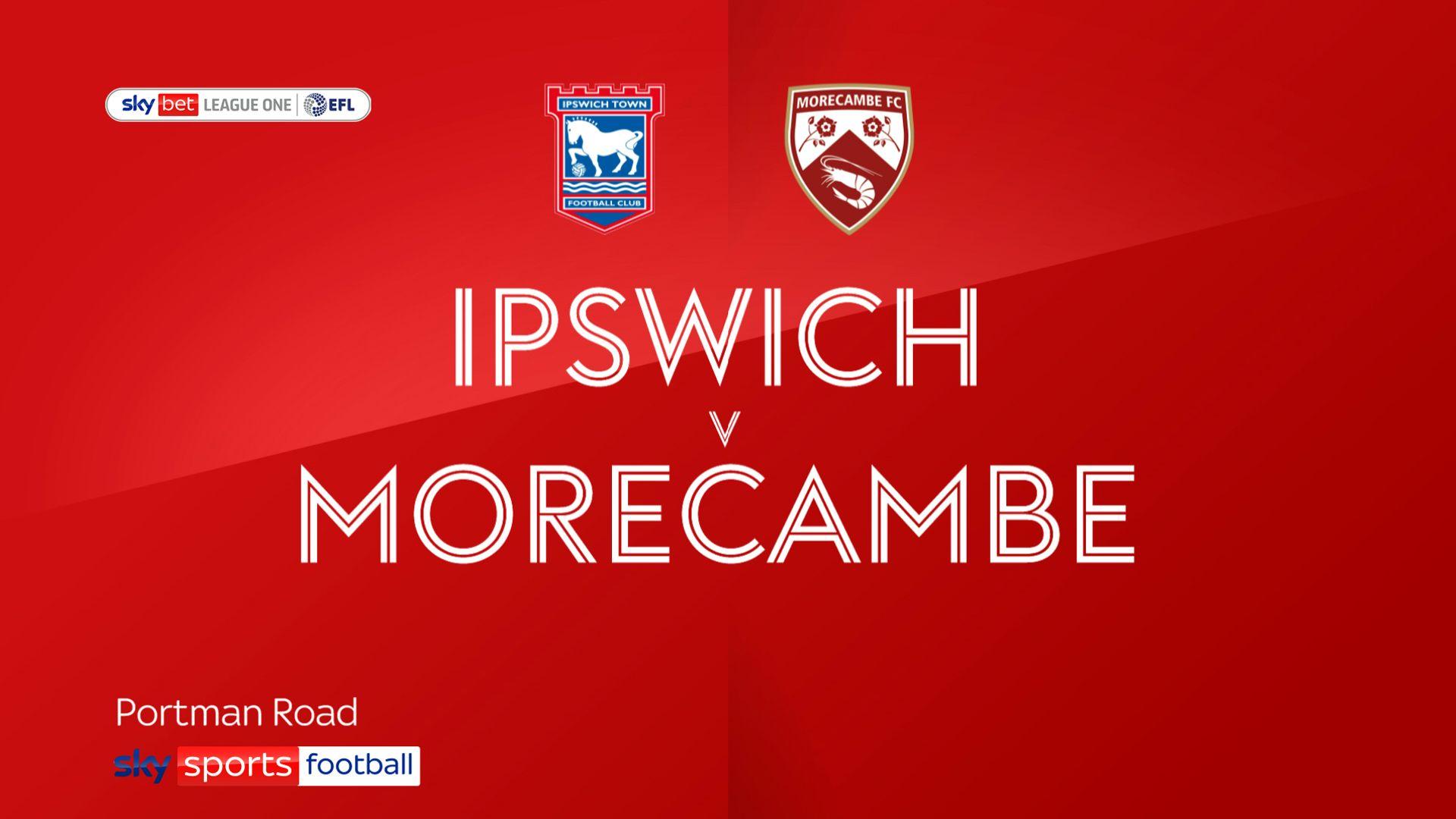 Bonne strikes late as Ipswich deny Morecambe