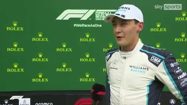 Max Verstappen, George Russell and Lewis Hamilton take the top three qualifying spots in qualifying for the Belgian Grand Prix.