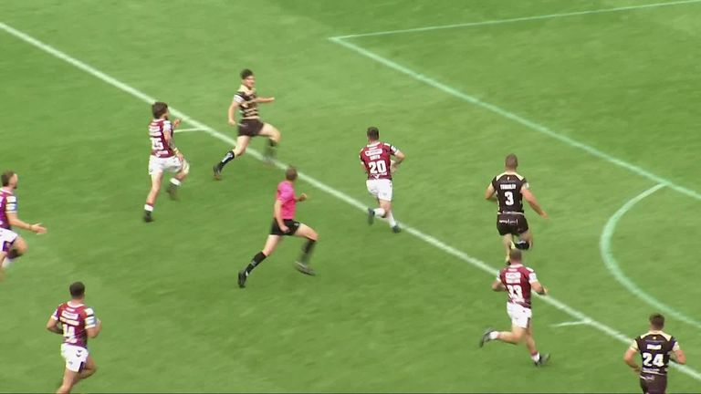 Wigan hit a half-century with a victory over winless Leigh in a feisty encounter at the DW Stadium
