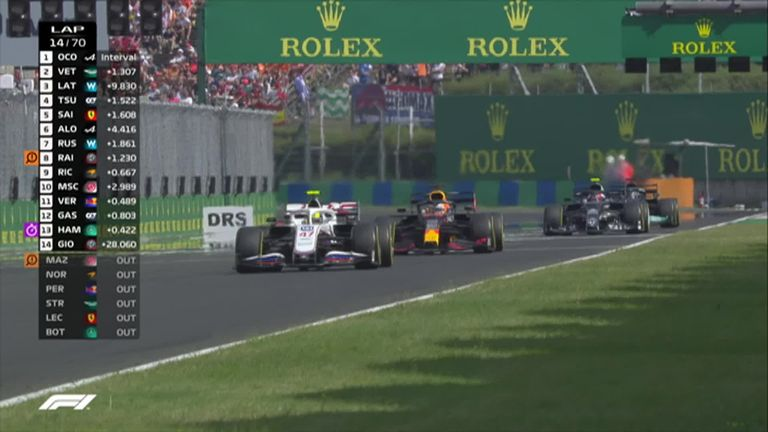 Max Verstappen won an incredible battle with Mick Schumacher to move into the points positions