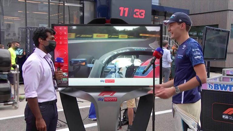 Russell echa un vistazo a su carrera desde el Gran Premio de Hungría con Karon Chandhok