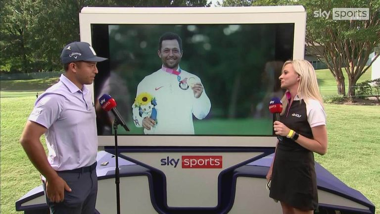 New Olympic gold medallist Xander Schauffele reflects on the positive reaction he has received from players and fans at the WGC-FedEx St. Jude Invitational.